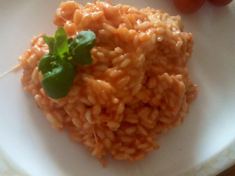 Risotto Pancetta, pomodoro e formaggio