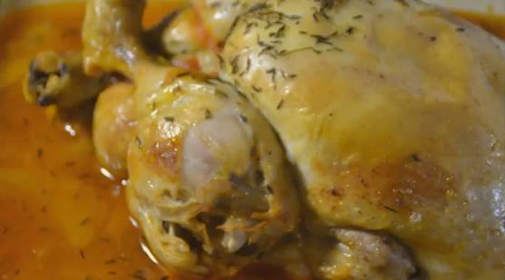 Pollo al pomodoro con Champignons