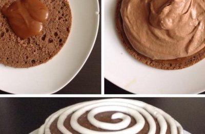 Torta Mousse al Cioccolato, caramello e chantilly