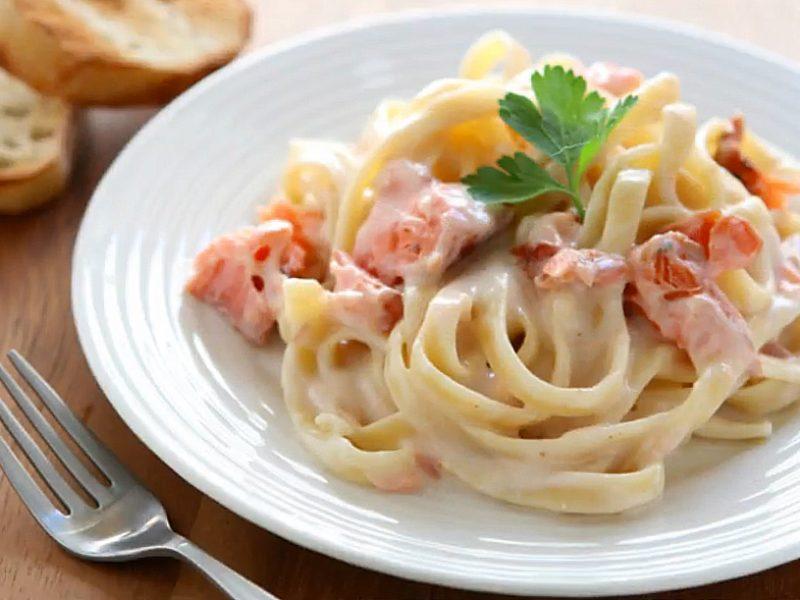 Pasta salmone e philadelphia