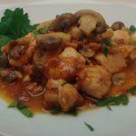 Bocconcini di pollo funghi e pancetta