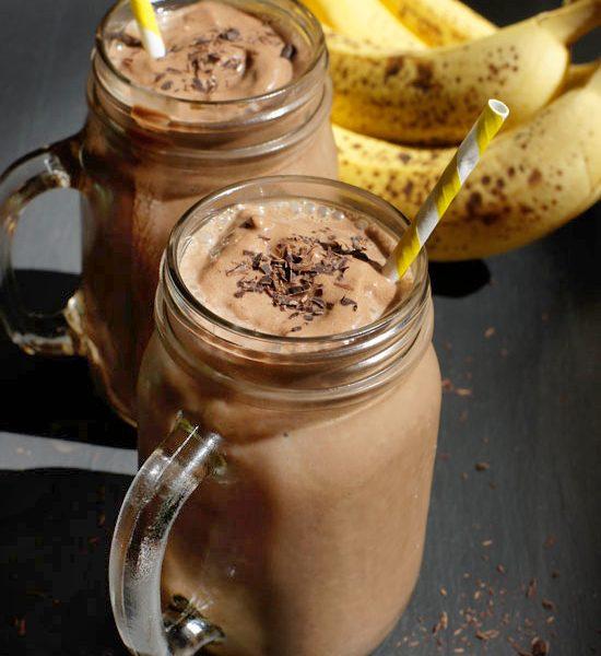 Milkshake cioccolato e banana