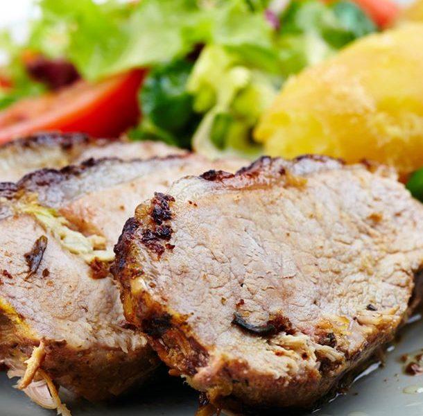 Arrosto di maiale con patate con il cookeo
