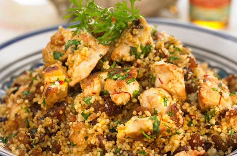 Cuscus con verdure e pollo