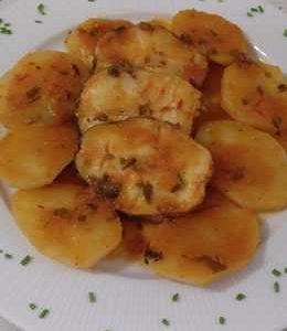 Merluzzo in salsa con  patate