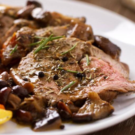 Roast-beef ai funghi