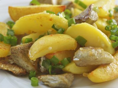 Carciofi e patate trifolati