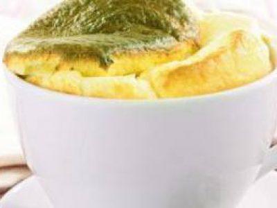 Soufflè spinaci e prosciutto