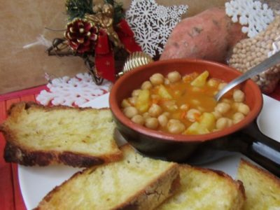 Zuppa Natalizia di ceci e patate dolci