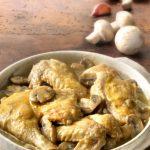 Pollo in umido ai funghi