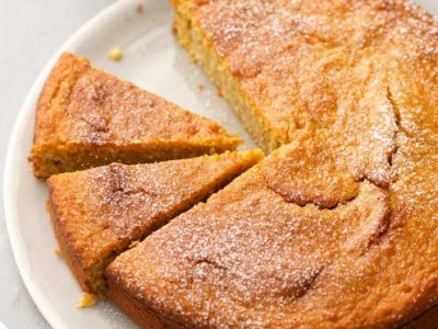Torta zucca, cocco e arancia