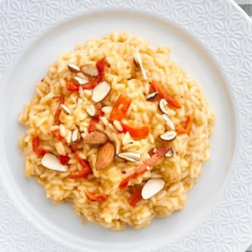 Risotto ai peperoni e parmigiano
